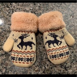 Other - Vintage youth deer Mittens
